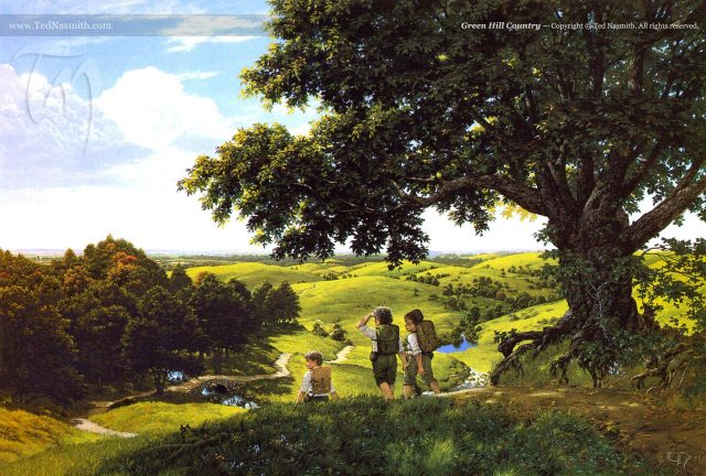 'Green Hill Country' by Ted Nasmith