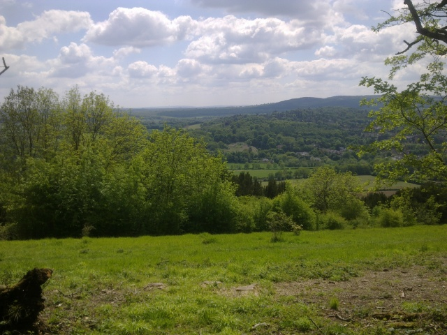 Overlooking Dorking on a clear Spring Day