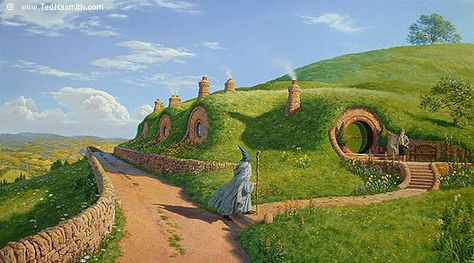 Drawing Of Bilbo Baggins At Bag End Inspired By 3 Tolkien