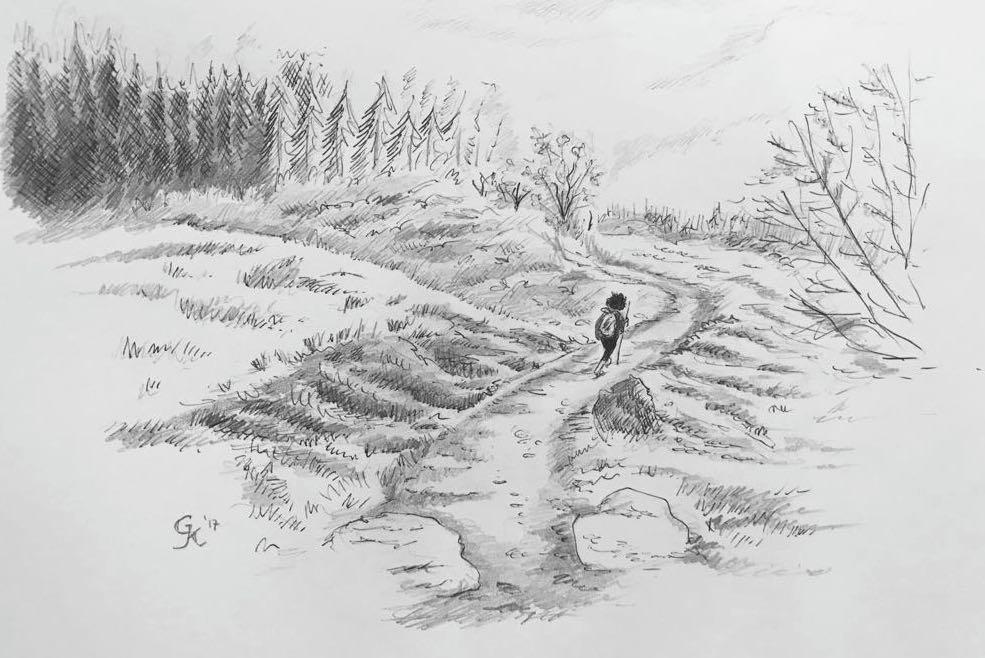 Frodo in the Shire